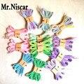 Mr. Niscar 1 Par Mulheres Moda Gradiente Casual Laços de Corda Pintado Multicolor Plana Cadarços Laços de Corda 120 cm/140 cm