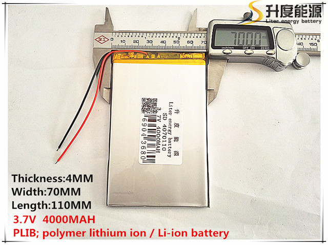 1pcs [SD] 3.7V,4000mAH,[4070110] Polymer lithium ion / Li-ion battery for TOY,POWER BANK,GPS,mp3,mp4,cell phone,speaker