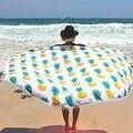 Round  Mandala Tapestry Outdoor Beach Towel Picnic Blanket Bohemian Pineapple Wink Gal Hippie Towels Beach Yoga Mat