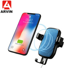 Fast 10W Wireless Car Charger Holder For iPhone XS Max X XR Qi Wireless Charging Gravity Air Vent Mount In Car For Samsung S9 S8 arvin wireless charger car phone holder for iphone 8 x xr xs max samsung s9 universal gravity fast wireless air vent mount stand