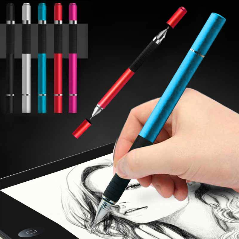 New Hot 2 In 1 Stylus Ballpen Metal Capacitive Ballpoint Pen For Touches Screen IPhone IPad Tablet NV99