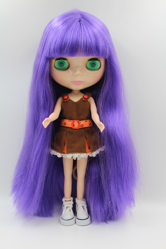 Free Shipping big discount RBL-297DIY Nude Blyth doll birthday gift for girl 4colour big eyes dolls with beautiful Hair cute toy free shipping big discount rbl 331 diy nude blyth doll birthday gift for girl 4colour big eye doll with beautiful hair cute toy