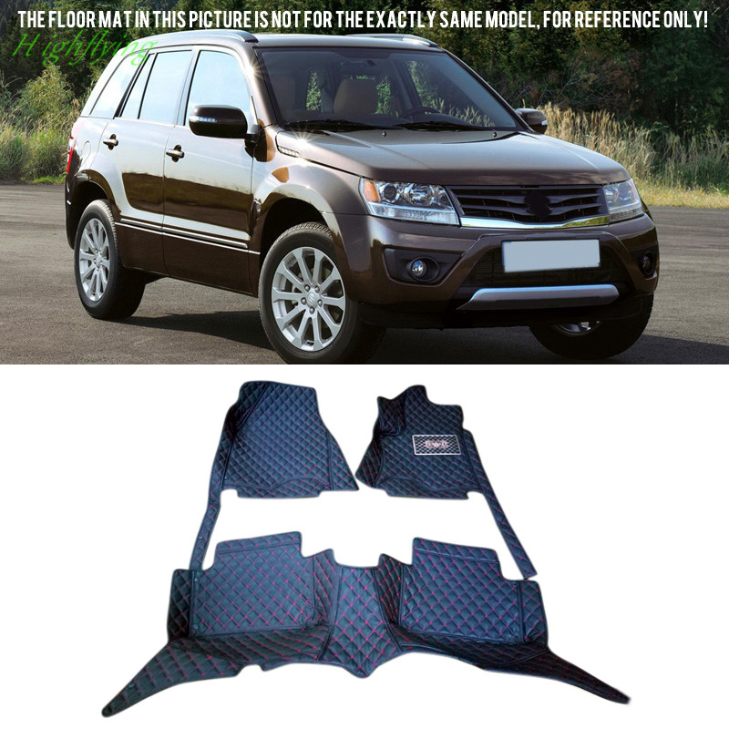 Inner Floor Mats & Carpets Foot Pads Cover Molding For Suzuki Grand Vitara 2005-2014 auto floor mats for honda cr v crv 2007 2011 foot carpets step mat high quality brand new embroidery leather mats