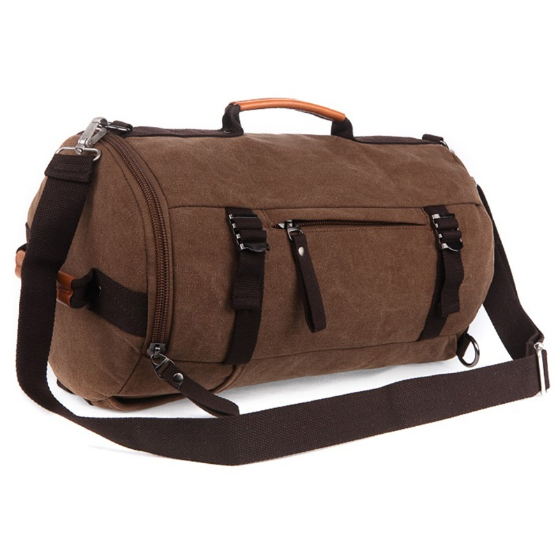 Beautiful Aliexpress.com  Buy Vintage Military Canvas Leather Men Travel Bags Carry On Luggage Bags Women ...