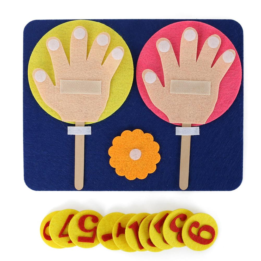 Children Maths Toys Finger Counting 1-10 Learning Kindergarten Mathematics Educational Toy Finger Numbers Set Maths Teaching Aid
