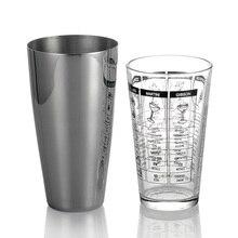 Boston Cocktail Shaker und Schmutzfänger Set/Professionelle Bartending Liefert-Silber Tasse und Pint Glas