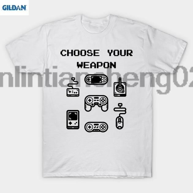 GILDAN Choose Your Weapon Retro Gaming Classic Controllers T Shirt