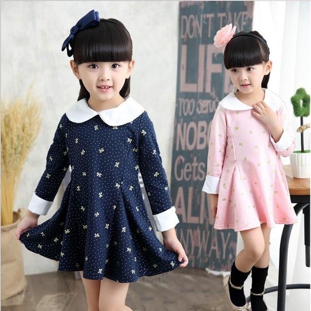 14eda2e25ba2 2018 Spring   Fall Little Girls Long Sleeve Princess Dress Bayb Kids ...