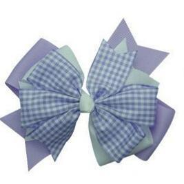 Purple Classic Plaid Ribbon Bows for Hair Band Hair Clips and Hair clasp Free Shipping