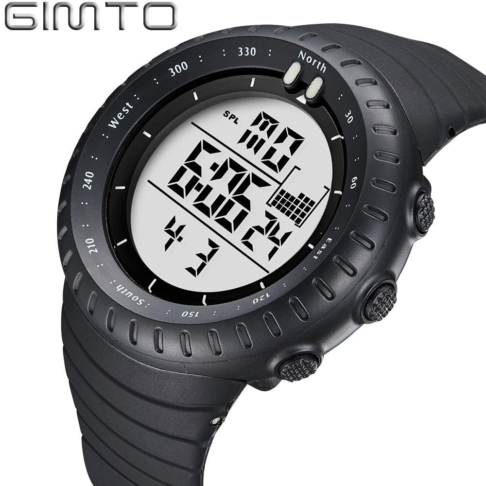 GIMTO Brand Military Digital Watch LED Men Sport Watch Swimming Diving Men's Wristwatch 50M Waterproof Male Clock reloj hombre цена и фото