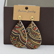 new arrival vintage teardrop leather earrings for women lightweight waterdrop dangle  statement fashion jewelry gifts