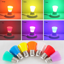 1/3W LED Colored Light Bulb E27 B22 Multi-colored for Christmas Party Bar Mood Ambiance Decor Colorful light bulb