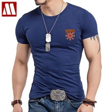online store b0ff1 eb4f7 Fitness False pocket T Shirt Men Designer Clothes Cross Flag Leather TShirts  Male Military Casual T-Shirts O Neck Slim Fit Tops