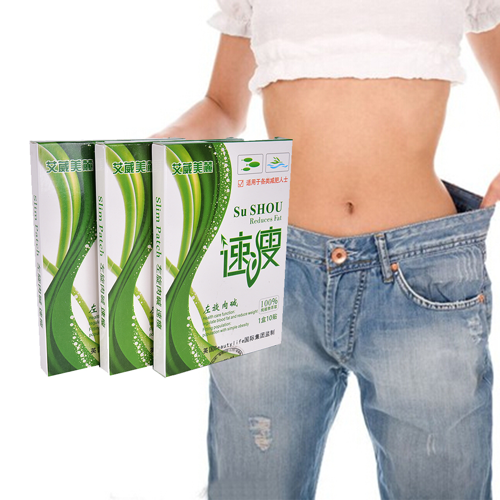 Newest 10pcs Hot Slimming Navel Stick Magnetic Thin body Slim Weight Loss Burning Fat Patch High Quality