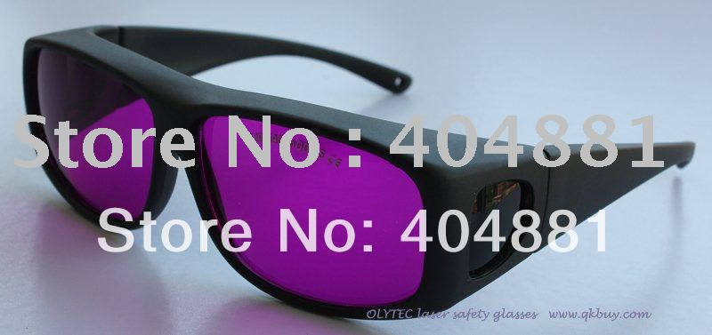ФОТО laser safety glasses 520-590nm O.D 2.5 CE certified