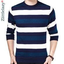 cd1b79faebe6ec 2019 designer trui gestreepte mannen trui jurk dunne jersey gebreide truien  mens wear slim fit knitwear