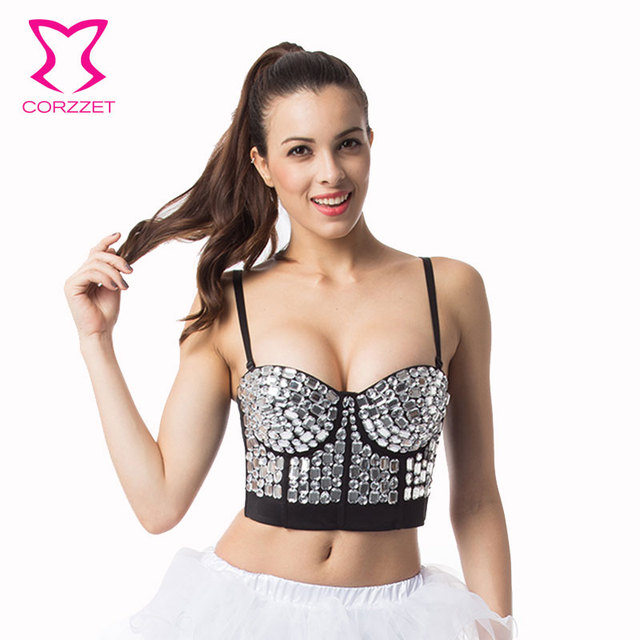 Corzzet Resin Gem Overbust Corsets and Bustiers Push Up Waist Hight Cup Burlesque Clubwear Corpetes E Espartilhos Women Corsetto
