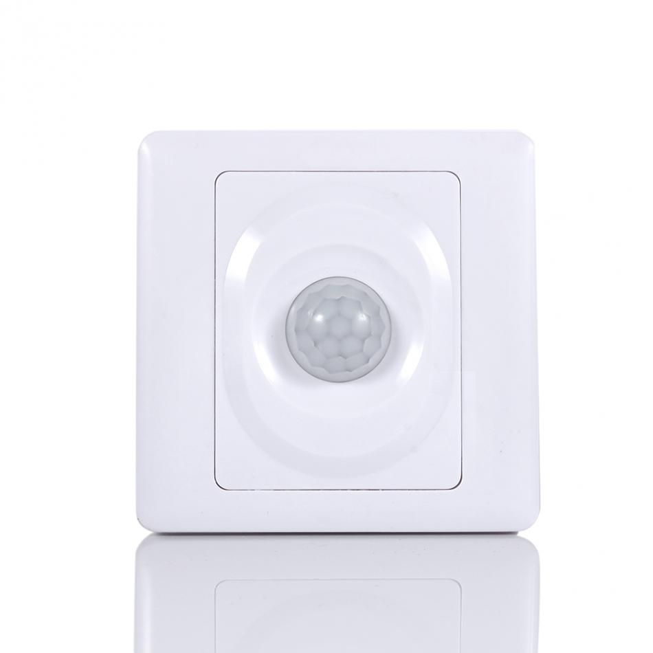 Adjustable Infrared IR Body Motion Sensor Switch Wall Mount Control Light Automatic Module Light On Off Switch White sensor automatic light lamp ir infrared motion control switch energy saving y103