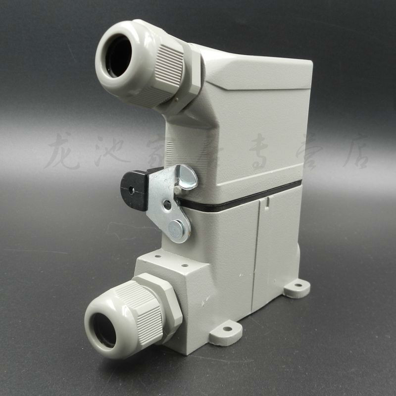 Heavy Load Connector Plug Socket Surface Mounted HDC-HA-016-3 Rectangle 16A Heat Flux Avenue 16 Core heavy duty connectors hdc he 024 1 f m 24pin industrial rectangular aviation connector plug 16a 500v
