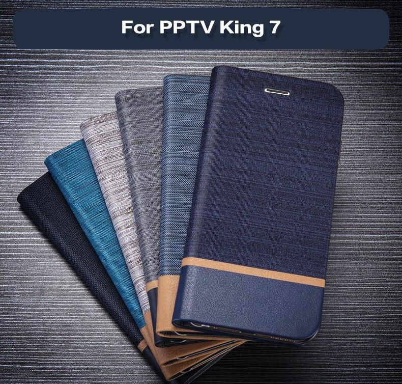 En Cuir Étui De Téléphone Portable Pour PPTV Roi 7 Flip Étui En Silicone Souple Couverture Arrière Pour PPTV Roi 7 s PP6000 Étui à Cartes