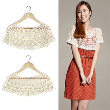 2019 New Fashion Summer Women White Kintted Wraps Lace Wrap