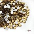 Super Brillante SS3-SS34 Glitter Hotfix Topaz Opal Color 3D Nail Art Decoraciones Flatback Strass Piedras 288-1440 unids