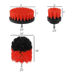 Image 2 - 3pcs Power Scrubber Brush Set For Bathroom Drill Scrubber Brush For Cleaning Cordless Drill Attachment Kit Power Scrub Brush