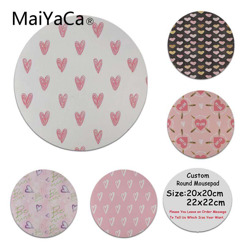 MaiYaCa Rose Amour Haute Vitesse Nouveau Lockedge Tapis De Souris Taille pour 22x22x0.2 cm Coloré Souris Pad