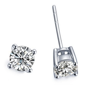 Wholesale Earrings Gold 0 5Ct piece Solid 14K White Gold Wedding Earrings Stud Tested Real Diamond.jpg 350x350 - Wholesale Earrings Gold 0.5Ct /piece Solid 14K  White Gold Wedding Earrings Stud Tested Real Diamond Jewelry for women