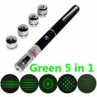 Mando a distancia inalámbrico verde 5 en 1 presentador Powerpoint puntero láser presentación lápiz remoto con aplicaciones puntero láser linterna