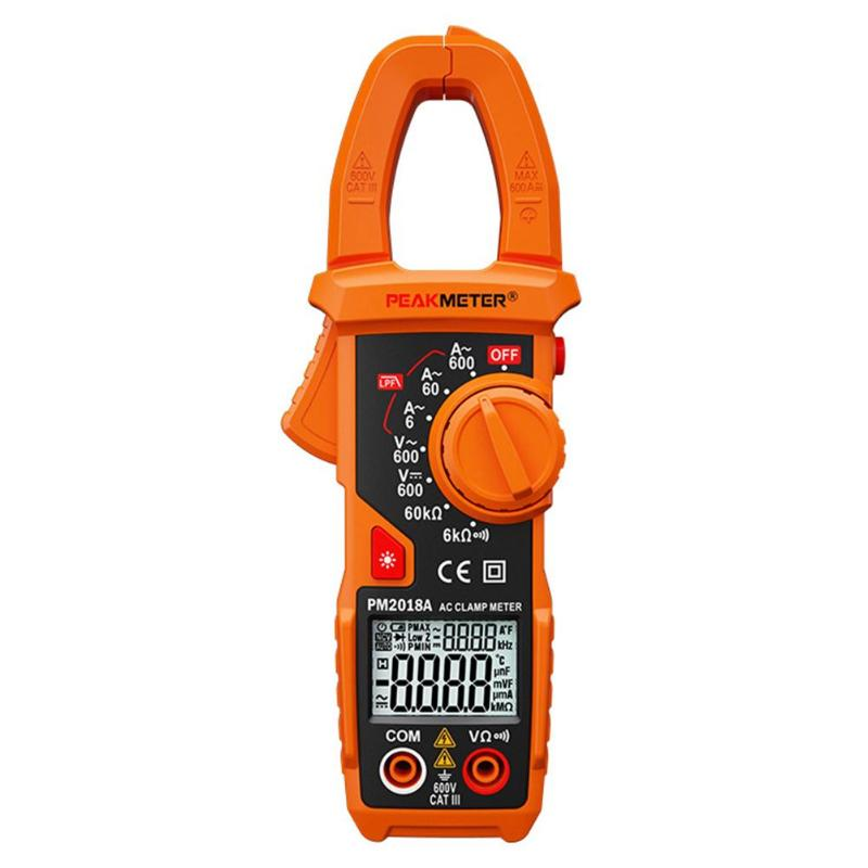 Peakmeter PM2018S Smart AC Digital Clamp Meter Tester Dual-display Auto Range Multimeter AC/DC Voltage Resistance NCV Frequency