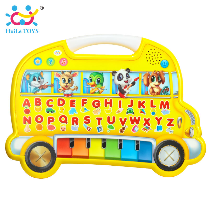 HUILE TOYS 976 Baby Educational Toys Early Learning Farm Animals Sound Cognitive Chart Music Game Toy Fairyland