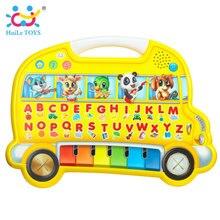 Huile игрушки 976 детские развивающие игрушки раннего обучения фермы Животные звук когнитивных диаграмма музыкальный игры игрушки обучения Волшебная страна