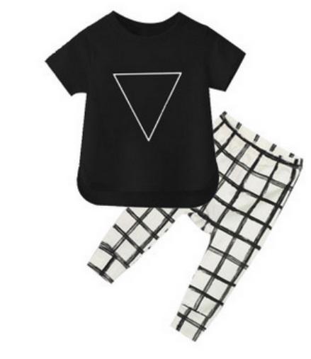 ST189 2017 Nowa dziewczyna przyjazdu i chłopców ubrania ustawić długi rękaw + Spodnie sowa wzór zestaw noworodka ubrania dla dzieci garnitur dzieci odzież 54