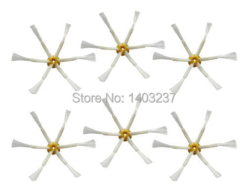 6 x Side Brush 6-armed for iRobot Roomba 500 600 700 Series 550 560 630 650 760 Vacuum Cleaner Accessories Parts 100pcs side brush for irobot roomba 500 600 700 series 550 560 630 650 760 770 780 vacuum cleaner accessories parts