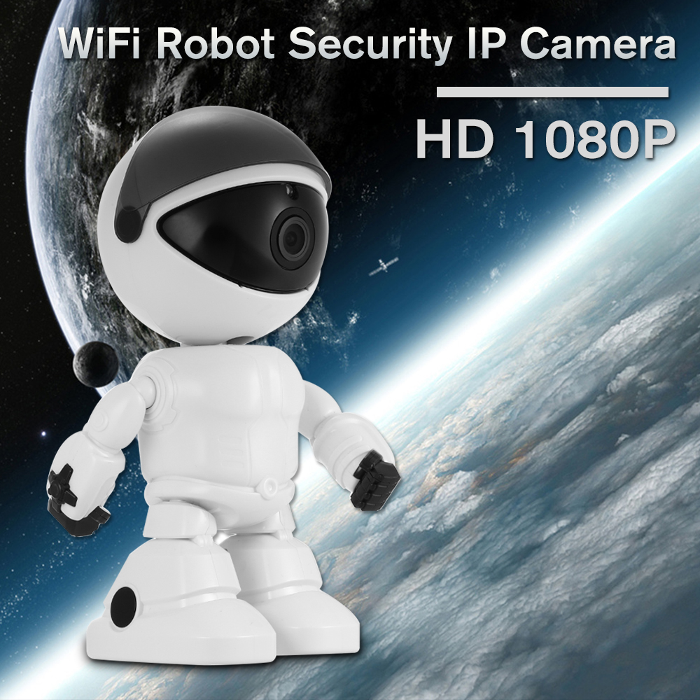 1080P HD Robot Security WiFi IP Camera Pan Tilt WiFi Camera Support P2P Two way Audio