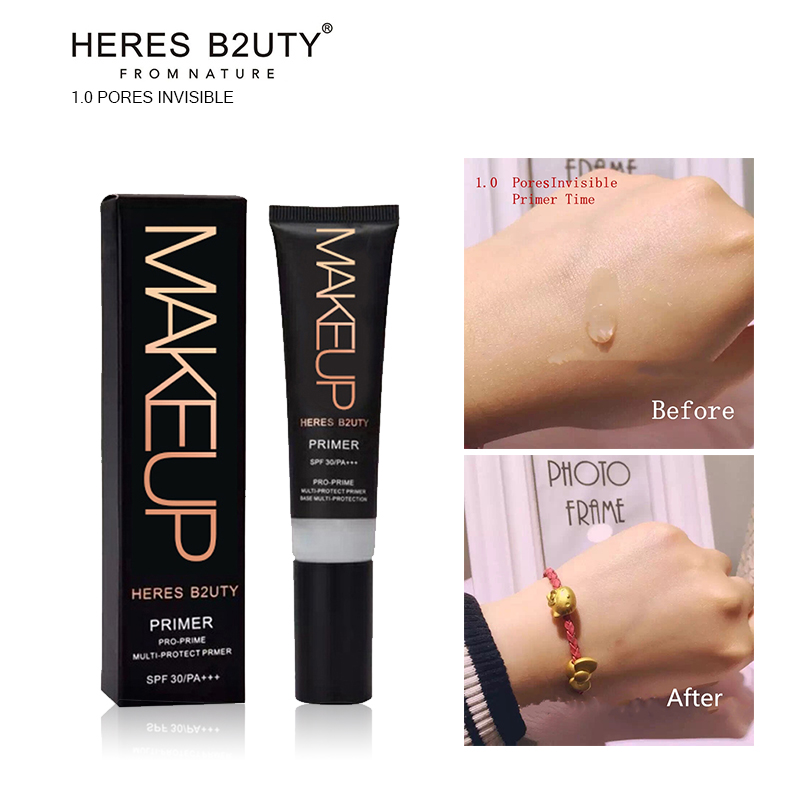 Brand HERES B2UTY Professional Makeup Base Primer makeup Oil-Control Primer Concealing Moisturizing foundation Primer 30ml c primer c primer