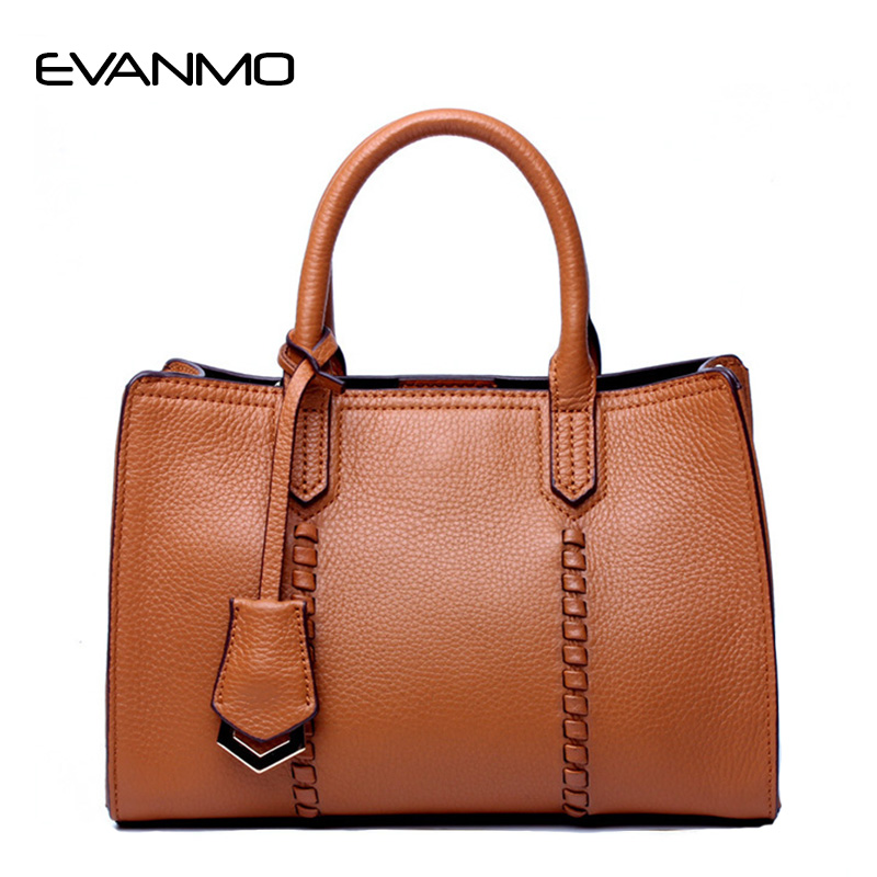 High Quality Fashion Women Bag Women's Casual Handbags Brand Genuine Leather Shoulder Bag Soft Leather Tote Bags Bolsa Feminina women genuine leather casual real cowhide tote bags vintage soft small trunk shoulder handbags solid tassels bolsa feminina