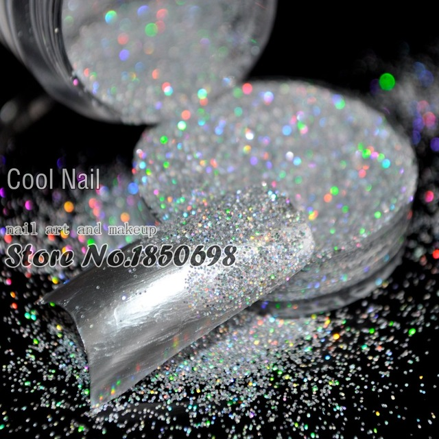 Reputation New Acrylic UV Nail Art Glitter Powder Dust Tips Decoration Laser Sparkly Silver Makeup Glitter Art Tips Decor N32