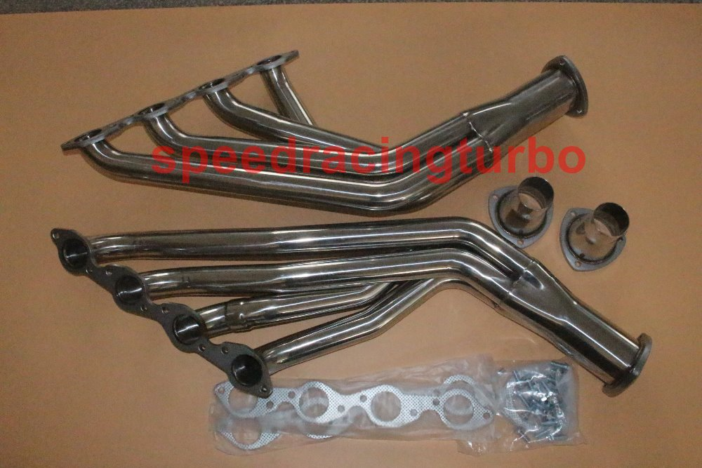 Fit Chevy Big Block 67-72 V8 rustfritt stål Long Tube Header Manifold Eksos