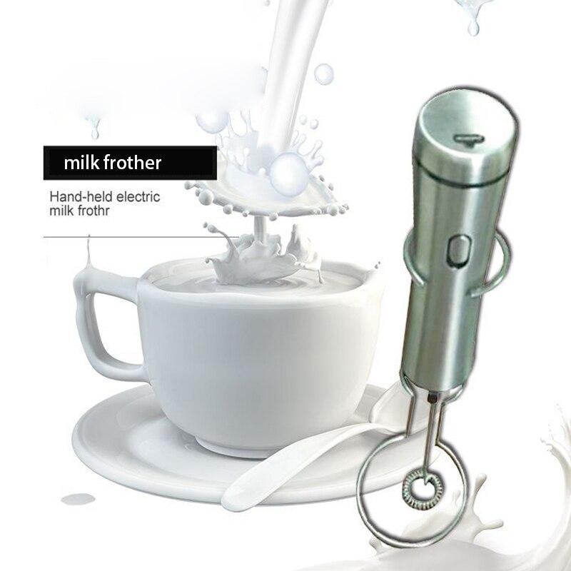 Elektrischer Milchaufsch/äumer roter Hochgeschwindigkeits-Hand-Egg Beater-Getr/änkemischer aus rostfreiem Stahl