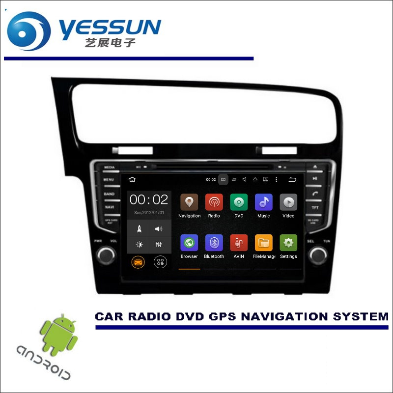 yessun car multimedia navigation for volkswagen vw golf 7. Black Bedroom Furniture Sets. Home Design Ideas