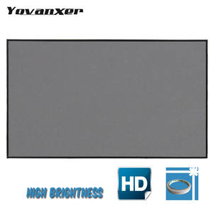 133 inch Reflective Fabric Projector Screen 60 72 100 120 For XGIMI H2 Z6 UC46 UC40