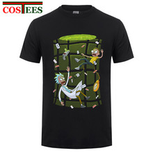 Ricked in Wonderland Rick And Morty T Shirt Men s Tops Clothing Teenage O  Neck Short Sleeve 3a37c83d0