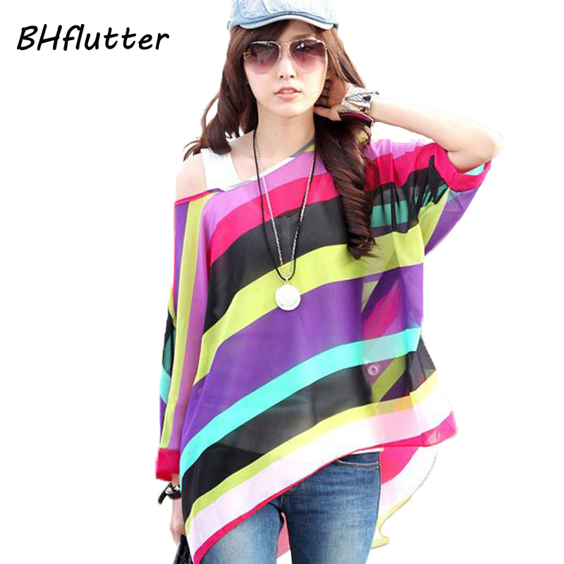 Blouse   Plus Size 4XL 5XL 6XL 2018 Women Chiffon Tops Blusas Femininas Batwing Sleeve Women's Floral Print Summer   Blouses     Shirts