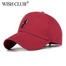 Moda al por mayor gorras de béisbol hombres mujeres sólido clásico Unisex  sombrero bordado del casquillo c709147495c