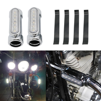 For Victory Harley Road King Street Glide Softail Fat Boy Motorcycle Highway Bar Switchback Turn Signal Light White Amber LED