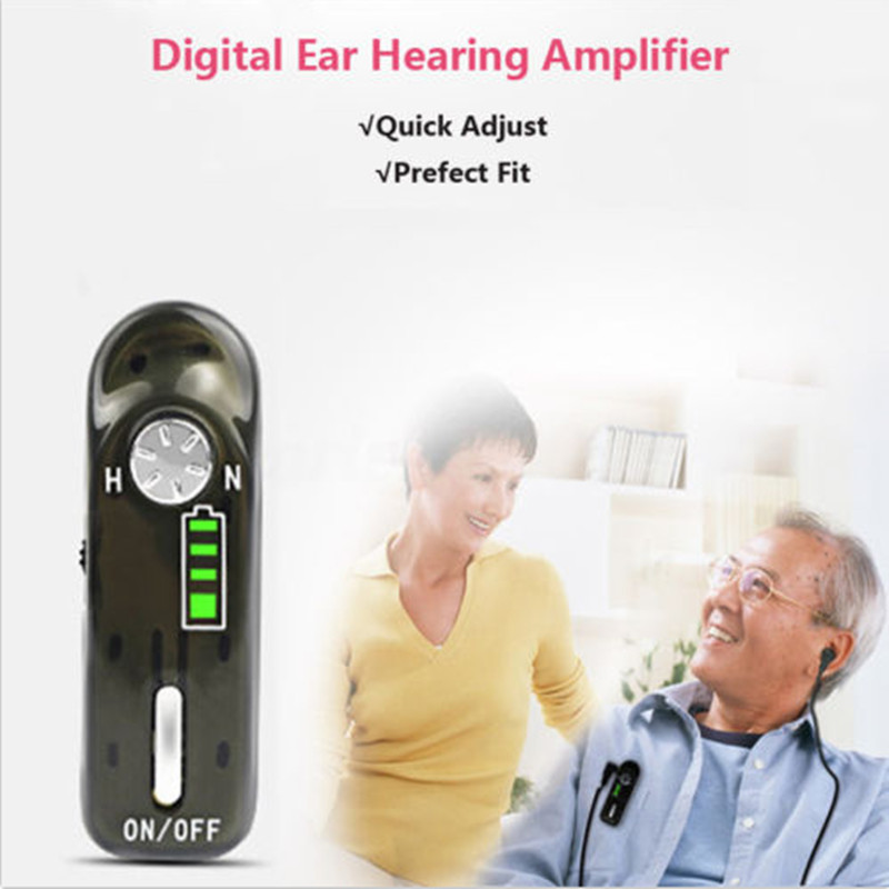 Micro USB Rechargeable Personal Ear Digital Hearing Aids Amplifier Clear Sound C-06 Adjutable Voice Amplifier  free SHipping