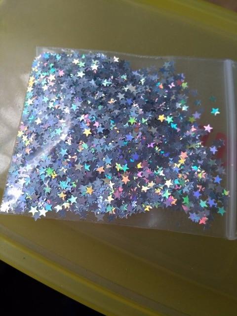 50 G 3 33euro Bag Of Glitter Stars Star In Gold White