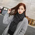 New Knitted Scarf  Patch Women Winter Shawl Oversized Knit Neckerchief Collar With Patches Scarf In Women's Scarves SC5516+40